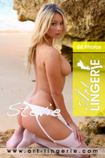 Art-Lingerie sexy sirens Stevie in white stockings