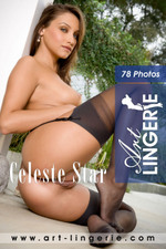 Art-Lingerie naked, gorgeous women in stockings and nylons. Celeste Star